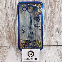 Переливающийся чехол для Huawei Y3 (2017) (CRO-U00) Синий Париж
