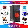 Современный Игровой  ПК ZEVS PC S611 AMD ATHLON 200GE