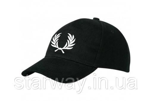 Кепка чорна бейсболка | логотип принт