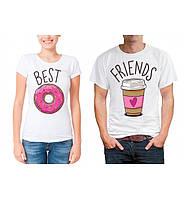Парные футболки для друзей