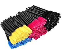 Щеточка для расчесывания ресниц (желтые, розовые, синие и др.)