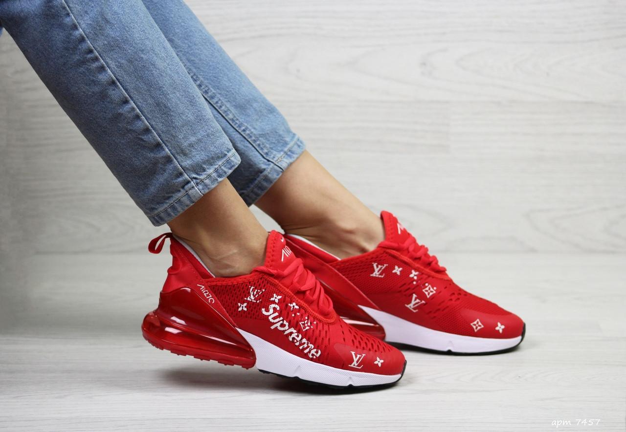 Женские кроссовки Nike Air Max 270 x Supreme (красные)