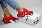 Женские кроссовки Nike Air Max 270 x Supreme (красные) , фото 2