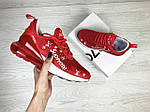 Женские кроссовки Nike Air Max 270 x Supreme (красные) , фото 3