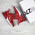 Женские кроссовки Nike Air Max 270 x Supreme (красные) , фото 4