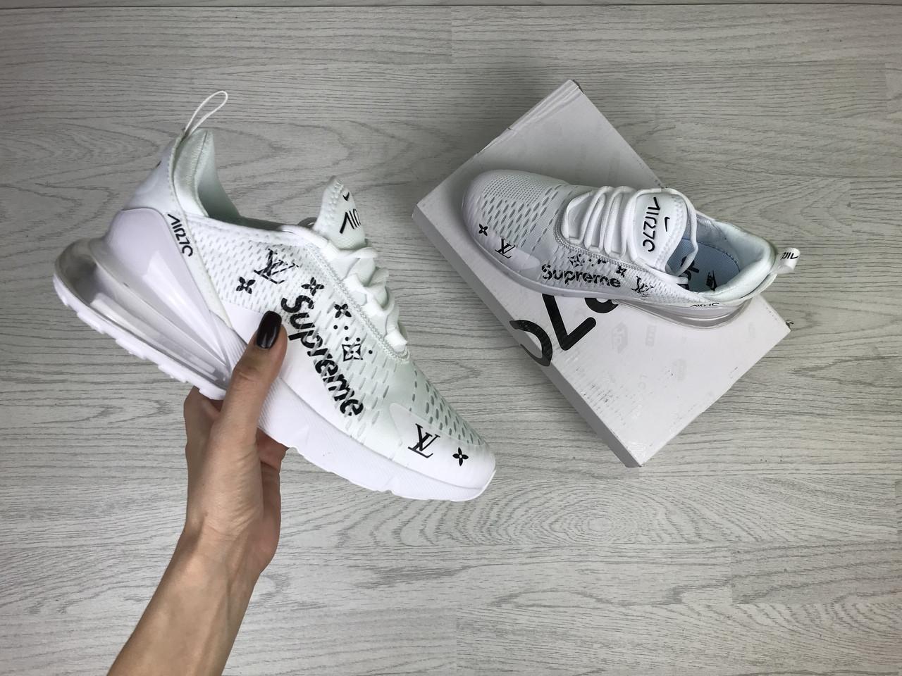 Женские кроссовки Nike Air Max 270 x Supreme (белые)