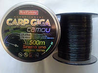 "Леска рыболовная BratFishing carp GIGA camou 500m (радуга) 0.30 "" СУПЕР КАЧЕСТВО"""