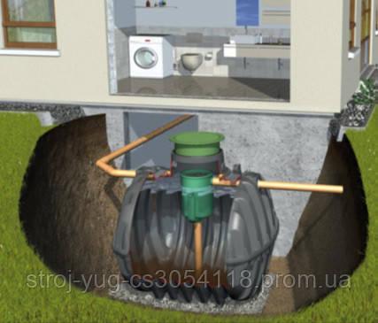 """Система очистки хоз-бытовых стоков """"Anaerobix"""" GRAF (Германия), на 7 чел."""