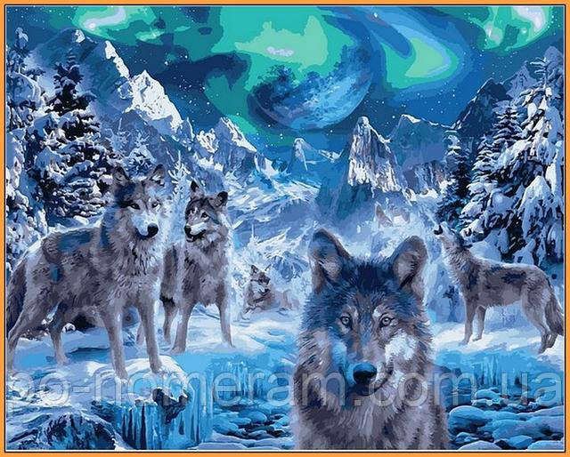 Картина по номерам Babylon Premium волки купить новинку