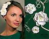 """""""Весна"""" комплект заколок с цветами из полимерной глины."""