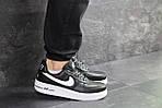 Мужские кроссовки Nike Air Force AF 1 (черно-белые), фото 2