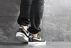 Мужские кроссовки Nike Air Force AF 1 (черно-белые), фото 3