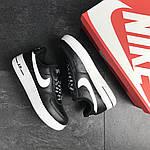 Мужские кроссовки Nike Air Force AF 1 (черно-белые), фото 5