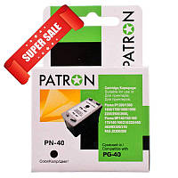 Картридж Canon PG-40 (0615B025) black Patron для принтера iP1800, iP1900, iP2500, iP2600, MP140, MP190, MP210, MP220, MP470, MX300, MX310, PIXMA