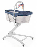 Кроватка-стульчик для новорожденного Chicco Baby Hug 4 в 1 серый с синим