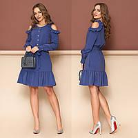"Весеннее короткое платье-халат размеры S, M ""Беби"", фото 1"