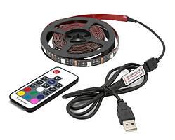 RGB фоновая подсветка телевизора с пультом 2м USB   код: 10.04085