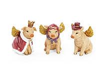 🔥 Распродажа! Декоративная статуэтка Модная свинка 7.5см, 3 вида