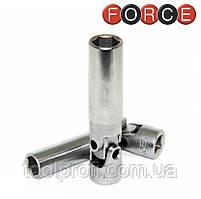 "Головка шестигранная с карданом 1/4"", 10 мм (Force 805256510)"
