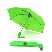 Необычный зонт, зонт Банан, женский складной зонт, дизайнерский, цвет - салатовый, Оригінальні парасолі, дитячі парасольки, парасольки з