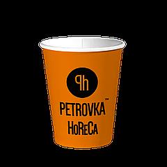 Однослойные бумажные стаканы с Вашим Логотипом