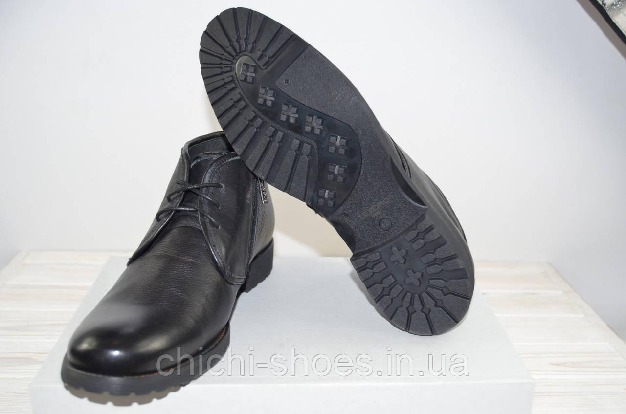 Ботинки мужские зимние Tezoro 11084-1 чёрные кожа