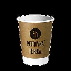Двухслойные крафт стаканы с Вашим логотипом