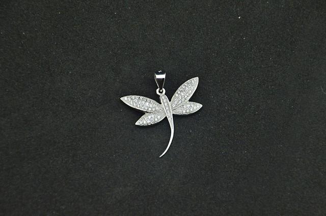 Серебряный кулон стрекоза