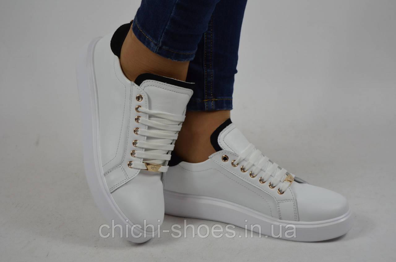 Туфли-мокасины женские Abbi Shoes 21600-01 белые кожа
