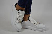 Туфли-мокасины женские Abbi Shoes 21600-01 белые кожа, фото 1