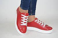 Туфли-мокасины женские Masis 9045 красные кожа, фото 1
