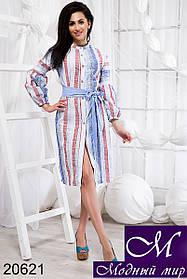 Женское платье рубашка из льна (р. S, M, L) арт. 20621