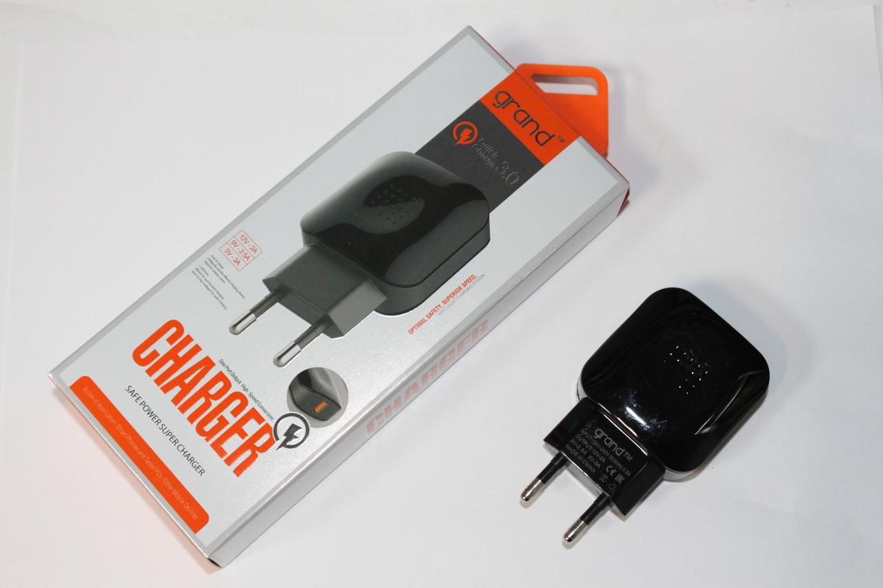 Зарядное устройство GRAND GQ-C01 Quick Charge 3.0 (3A)