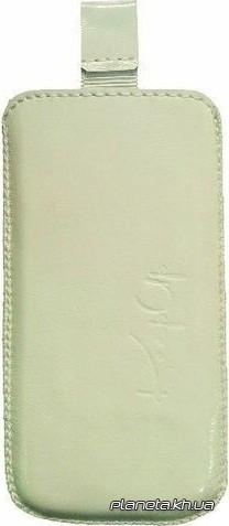 KeepUp кожаный чехол для Nokia X2 White