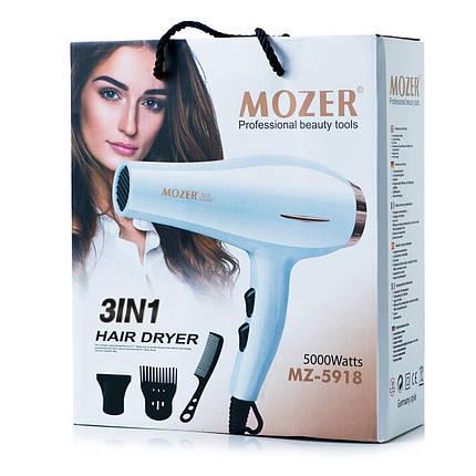 Фен сушка профессиональный MOZER MZ-5918 фен для волос 5000 Вт, фото 2
