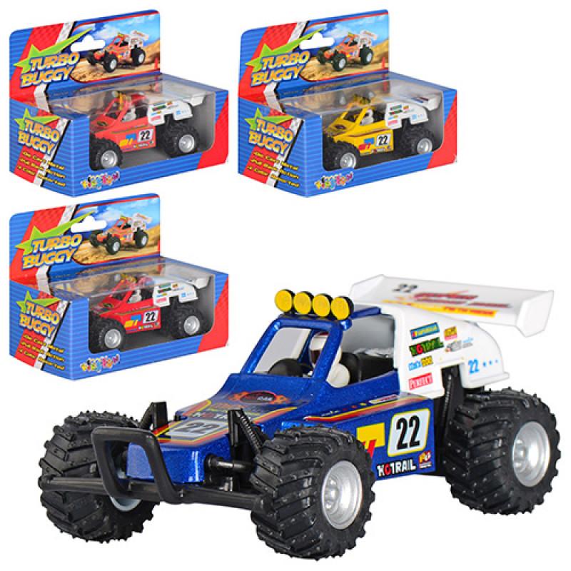 Машинка KS 5106 W металева, інерційна, гумові колеса, 4 кольори, в коробці, 14,5-11-8,5 см