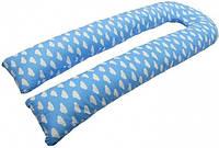 Подушка для беременных Kidigo U образная (с наволочкой) Подушка для беременных Kidigo U образная Облака (с наволочкой)