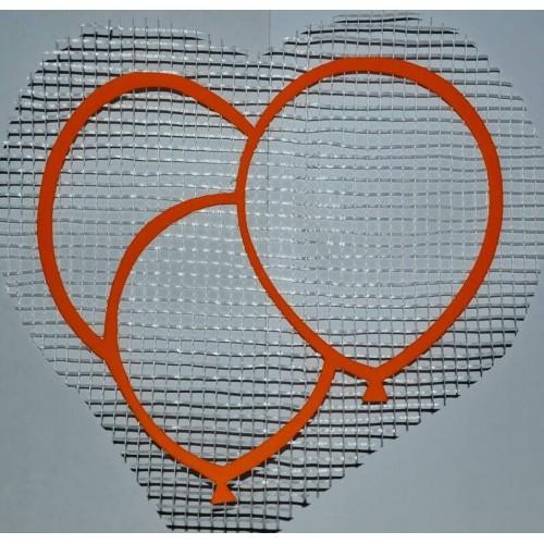 Трафарет для жидких обоев Воздушниые шарики А5