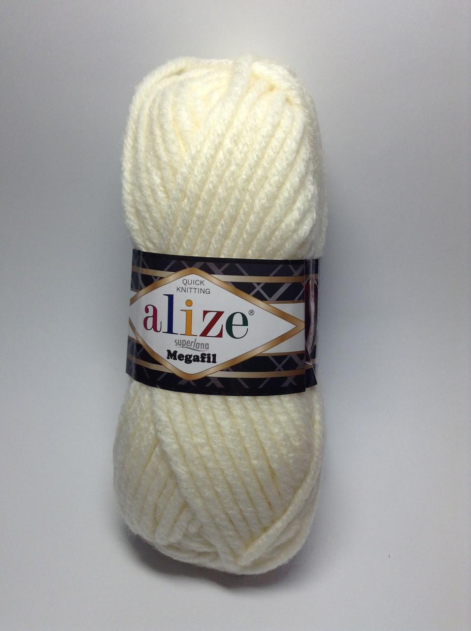 Пряжа superlana megafil Alize (25% шерсть)