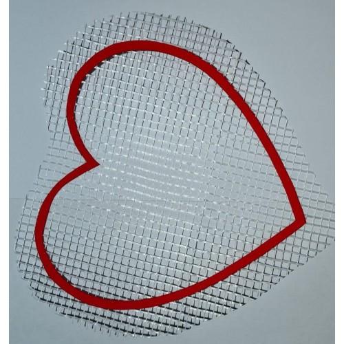 Трафарет для жидких обоев Сердце А5