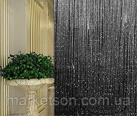 Шторы нити кисея радуга, дождь, лапша с люрексом, фото 2