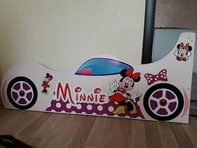 Детская кровать Мини Маус 90х160 розовая