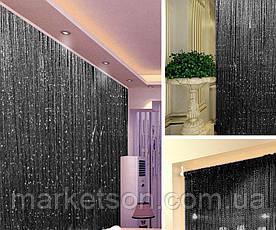 Шторы нити кисея радуга, дождь, лапша с люрексом, фото 3
