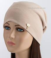 Оригинальная трикотажная женская шапочка Мелиса