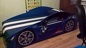 Детская кровать Elit BMW E-1 с подъемным механизмом 70х150 синяя