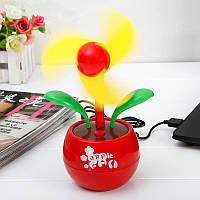 Маленький настольный вентилятор, USB вентилятор, «Цветок», декоративный, цвет - красный, Охолодження і мікроклімат, Охлаждение и микроклимат