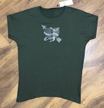 ESMIRA футболка с камнями батал, фото 2