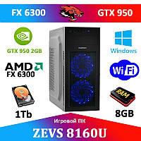 Игровой ПК ZEVS PC8160U FX6300 + GTX 950 2GB