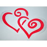 Трафарет для жидких обоев Два сердца А3