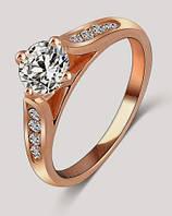 566 - Бижутерия женское кольцо - покрытие золото